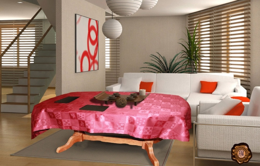 Фото - Скатерть на прямоугольный стол Амизи 145х370 купить в киеве на подарок, цена, отзывы