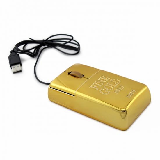 Фото - Мышка Компьютерная слиток золота купить в киеве на подарок, цена, отзывы