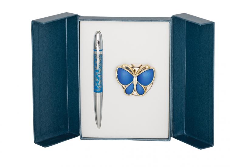 Фото - Подарочный набор ручка и держатель для сумки Лета синий купить в киеве на подарок, цена, отзывы