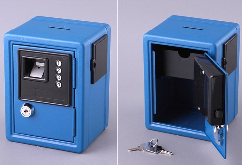 Фото - Кеш-бокс с ключем, 12х10х16 см (голубой) купить в киеве на подарок, цена, отзывы