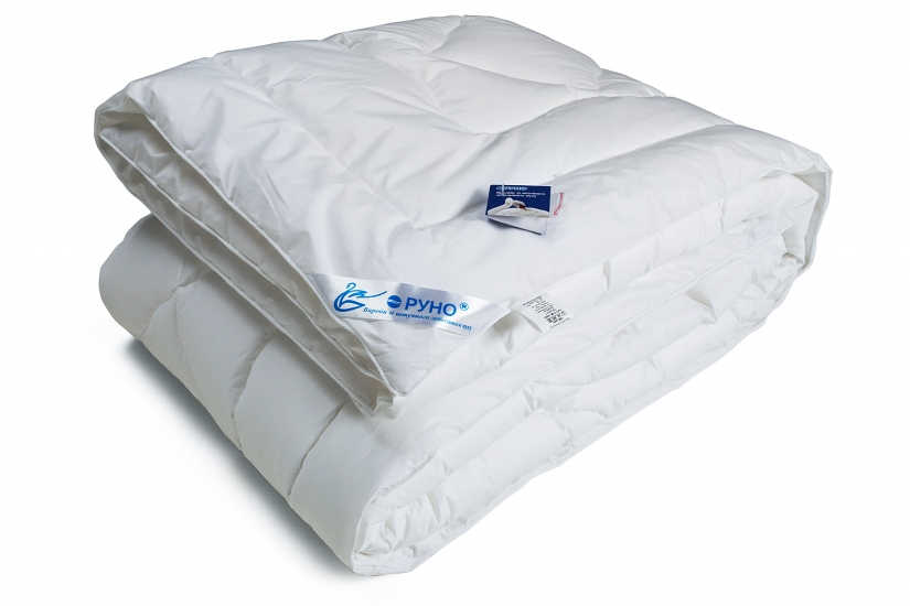 Фото - Одеяло из искусственного лебяжьего пуха чехол тик 172х205 см купить в киеве на подарок, цена, отзывы