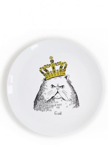 Фото - Тарелка Кот в короне купить в киеве на подарок, цена, отзывы