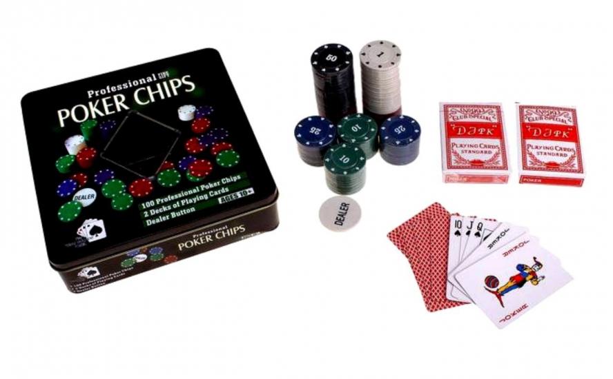 Фото - Покерный набор на 100 фишек купить в киеве на подарок, цена, отзывы