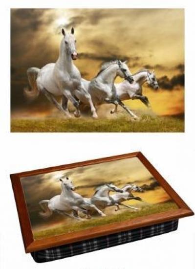 Фото - Поднос с подушкой Лошадки купить в киеве на подарок, цена, отзывы