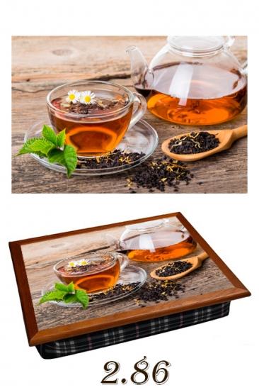 Фото - Поднос с подушкой крепкий чай купить в киеве на подарок, цена, отзывы