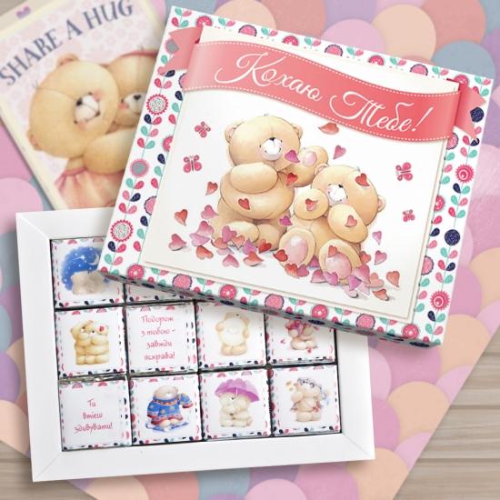 Фото - Шоколадный набор Кохаю Тебе маленький купить в киеве на подарок, цена, отзывы