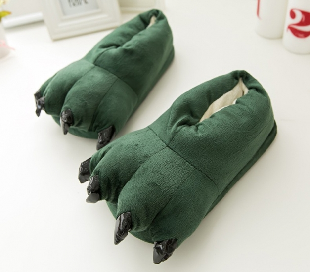 Фото - Домашние тапочки кигуруми Лапы Зеленые купить в киеве на подарок,  цена, отзывы a3d95e3c167
