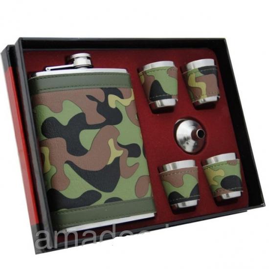 Фото - Подарочный набор Фляга камуфляж купить в киеве на подарок, цена, отзывы