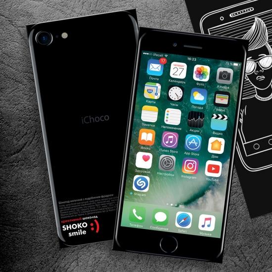 Фото - Шоколадная плитка iPhone 7 черная купить в киеве на подарок, цена, отзывы