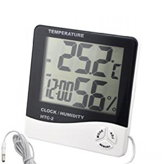 Фото - Цифровой термометр, часы, гигрометр с проводдом купить в киеве на подарок, цена, отзывы