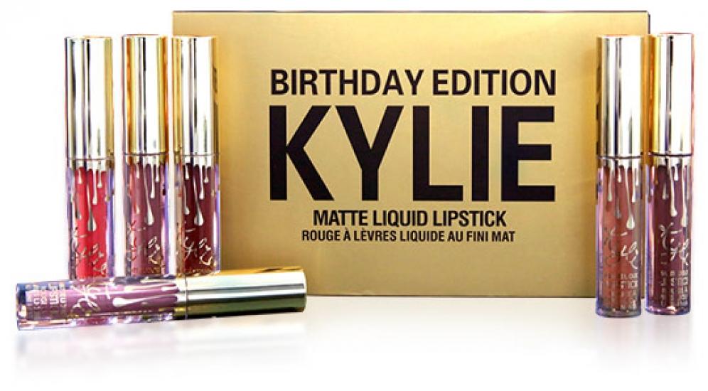 Фото - Набор матовых помадок Kylie birthday edition купить в киеве на подарок, цена, отзывы