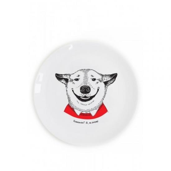 Фото - Тарелка Собака-Посмішака купить в киеве на подарок, цена, отзывы