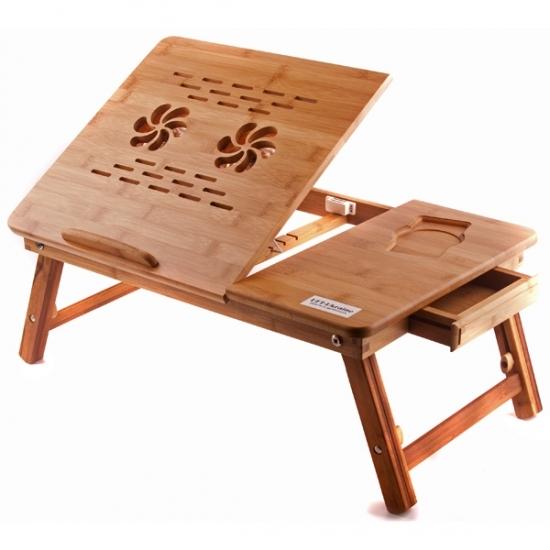 Фото - Бамбуковый столик для ноутбука Івон купить в киеве на подарок, цена, отзывы