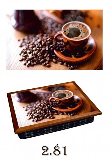Фото - Поднос с подушкой Аромат кофе купить в киеве на подарок, цена, отзывы
