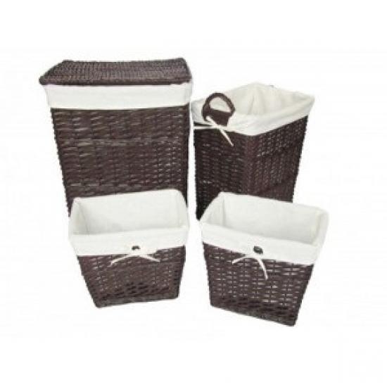 Фото - Корзина бельевая без крышки прямоугольная Grey 30х20 см купить в киеве на подарок, цена, отзывы