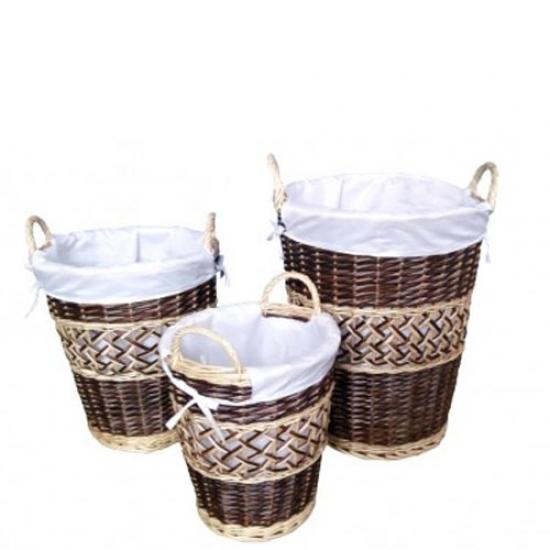 Фото - Маленькая плетенная корзина для белья 28х28 см купить в киеве на подарок, цена, отзывы