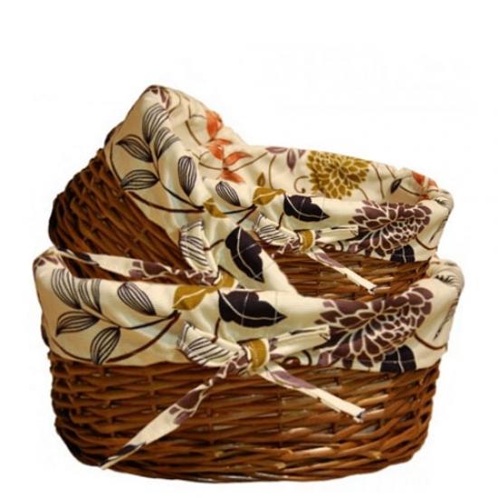 Фото - Корзина плетеная для вещей Овальная 29х21 см купить в киеве на подарок, цена, отзывы