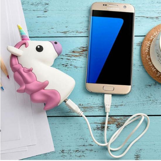 Фото - Универсальная портативная батарея Power Bank Единорог Pink купить в киеве на подарок, цена, отзывы