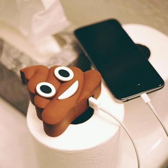 Фото - Универсальная портативная батарея Power Bank Какашка poop brown купить в киеве на подарок, цена, отзывы