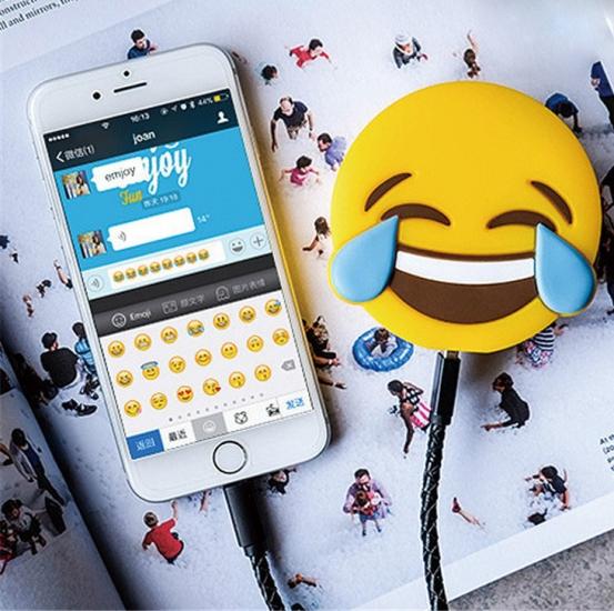 Фото - Универсальная портативная батарея Power Bank emoji Crying Laughing купить в киеве на подарок, цена, отзывы