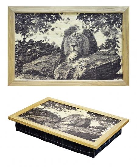 Фото - Поднос с подушкой царь зверей Лев купить в киеве на подарок, цена, отзывы