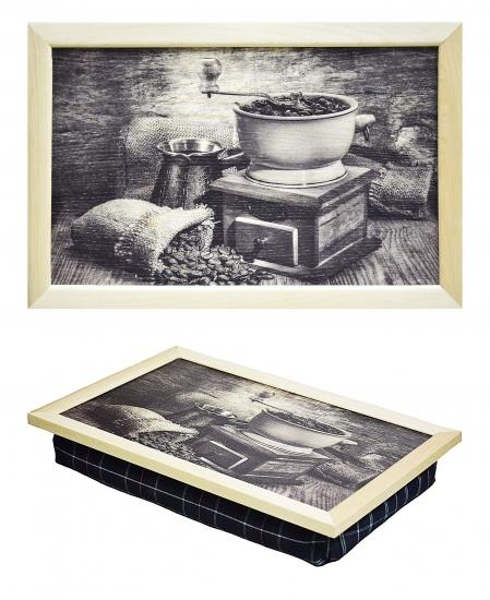 Фото - Поднос с подушкой Кофемолка купить в киеве на подарок, цена, отзывы