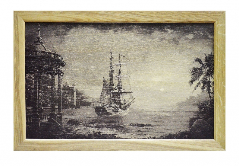 Фото - Поднос с подушкой корабль Фрегат купить в киеве на подарок, цена, отзывы