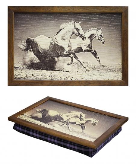 Фото - Поднос с подушкой Лошади купить в киеве на подарок, цена, отзывы