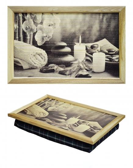 Фото - Поднос с подушкой Свечи купить в киеве на подарок, цена, отзывы