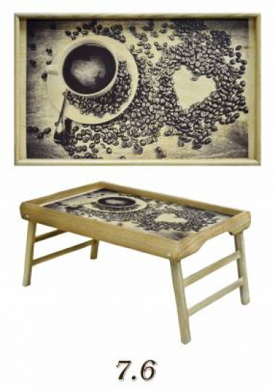 Фото - Столик для завтрака Влюбленность купить в киеве на подарок, цена, отзывы