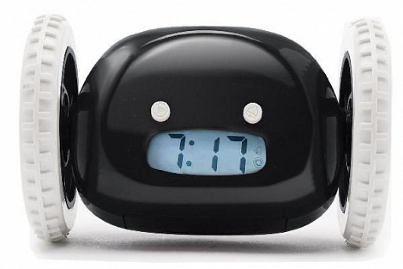 Фото - Убегающий будильник на колесиках Black  купить в киеве на подарок, цена, отзывы