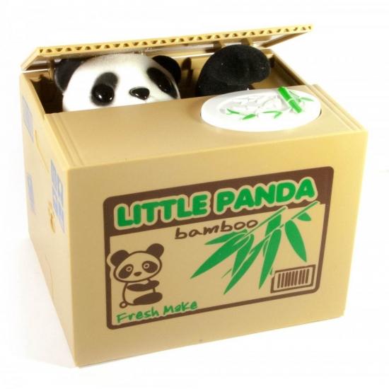Фото - Копилка подвижная Панда - Воришка купить в киеве на подарок, цена, отзывы