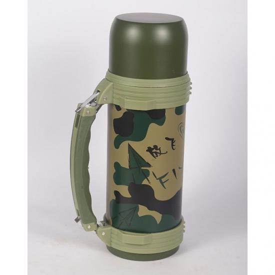 Фото - Термос вакуумный High Vacuum Travel Pot 1200мл хаки купить в киеве на подарок, цена, отзывы