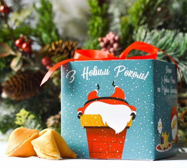 Фото - Печенье с предсказаниями С Новым Годом купить в киеве на подарок, цена, отзывы
