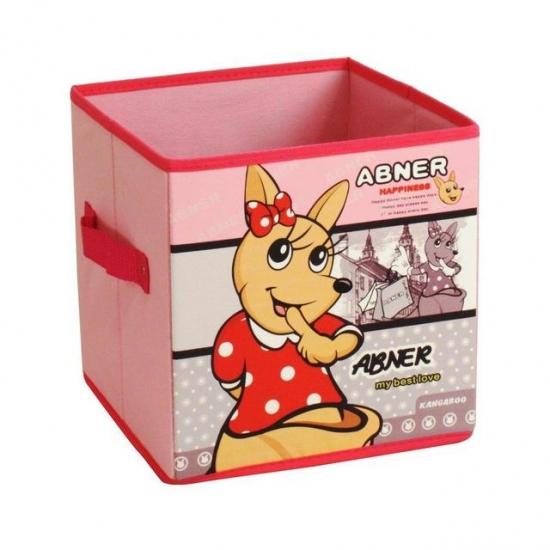 Фото - Короб складной для детских игрушек Кенгуру розовый купить в киеве на подарок, цена, отзывы