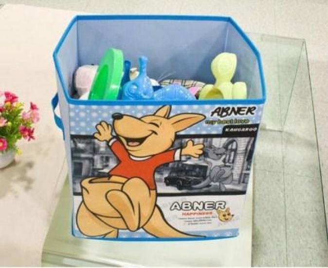 Фото - Короб складной для детских игрушек Кенгуру голубой купить в киеве на подарок, цена, отзывы