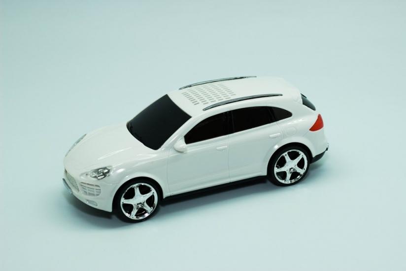 Фото - Колонка - Машинка Porsche Cayenne (колонка, плеер mp3, радио) Белая купить в киеве на подарок, цена, отзывы