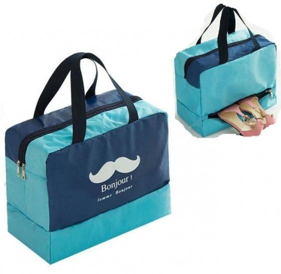 Фото - Дорожная сумка с отделением для обуви Bonjour Blue купить в киеве на подарок, цена, отзывы