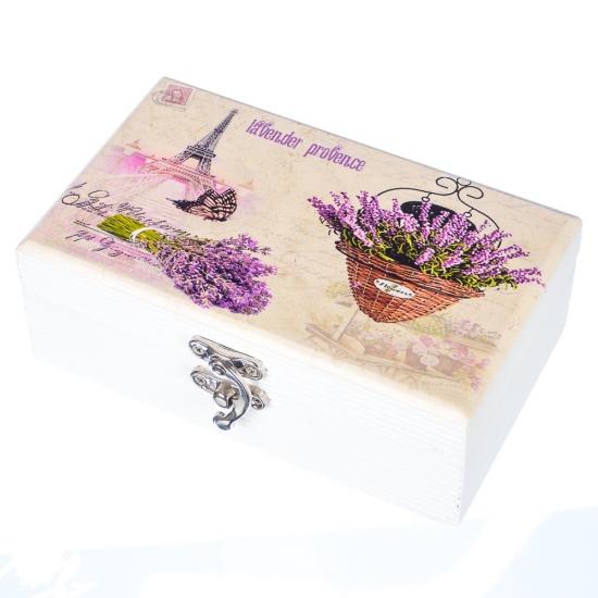 Фото - Деревянная шкатулка Парижский букет купить в киеве на подарок, цена, отзывы