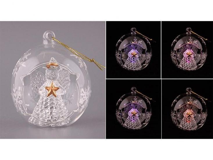 Фото - Украшение на елку с подсветкой Ангел 8см купить в киеве на подарок, цена, отзывы