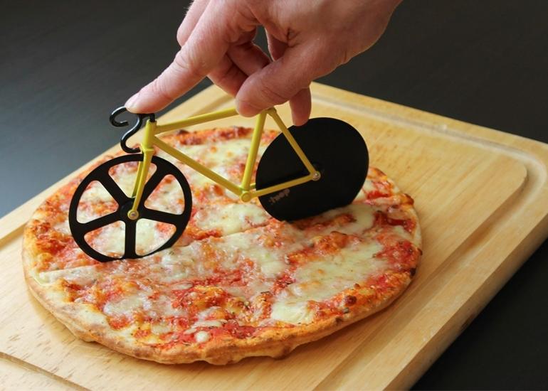 Фото - Нож для пиццы Велосипед желтый купить в киеве на подарок, цена, отзывы