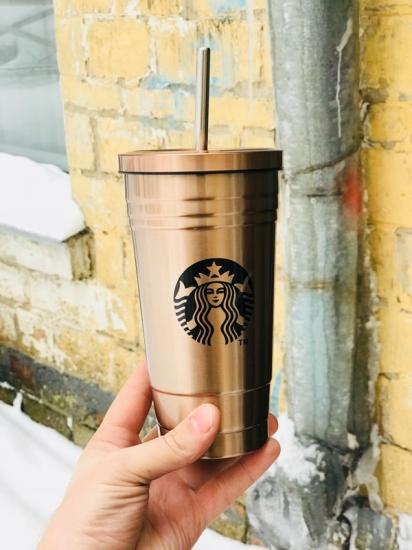 Фото - Стакан с крышкой и трубочкой Starbucks Reserve Bronze купить в киеве на подарок, цена, отзывы