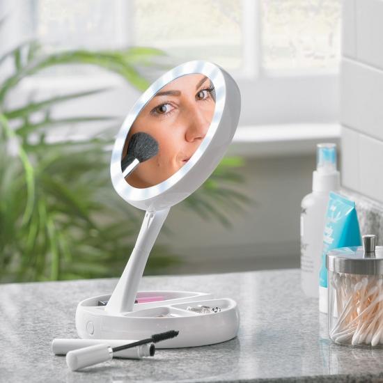 Фото - Двойное косметическое зеркало с Led подсветкой Miracle купить в киеве на подарок, цена, отзывы