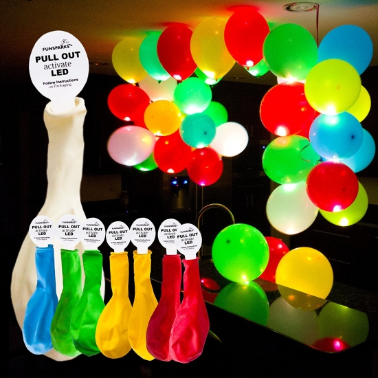 Фото - Набор светящихся воздушных шариков купить в киеве на подарок, цена, отзывы