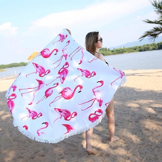 Фото - Пляжный коврик Фламинго УЦЕНКА купить в киеве на подарок, цена, отзывы