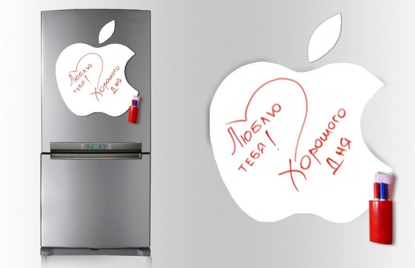 Фото - Магнитная доска для маркера Apple 40*43см.  купить в киеве на подарок, цена, отзывы