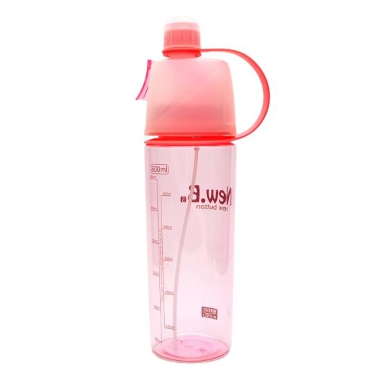 Фото - Спортивная бутылка для воды с распылителем New B pink купить в киеве на подарок, цена, отзывы