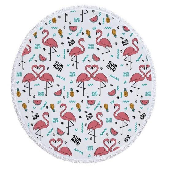Фото - Пляжный коврик Summer Flamingo купить в киеве на подарок, цена, отзывы