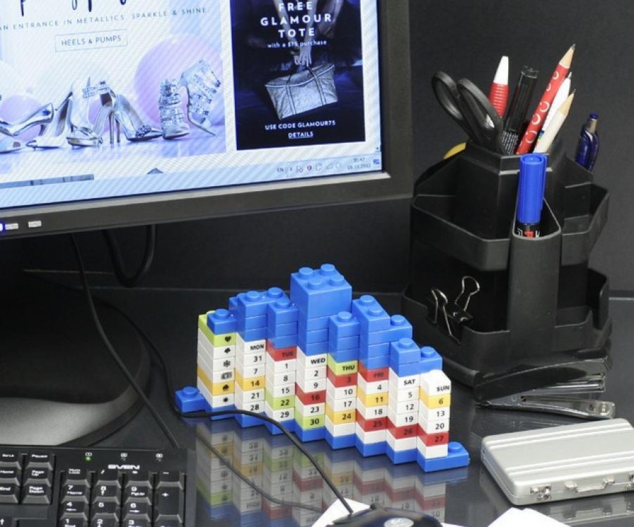 Фото - Вечный Календарь PUZZLE Blue купить в киеве на подарок, цена, отзывы