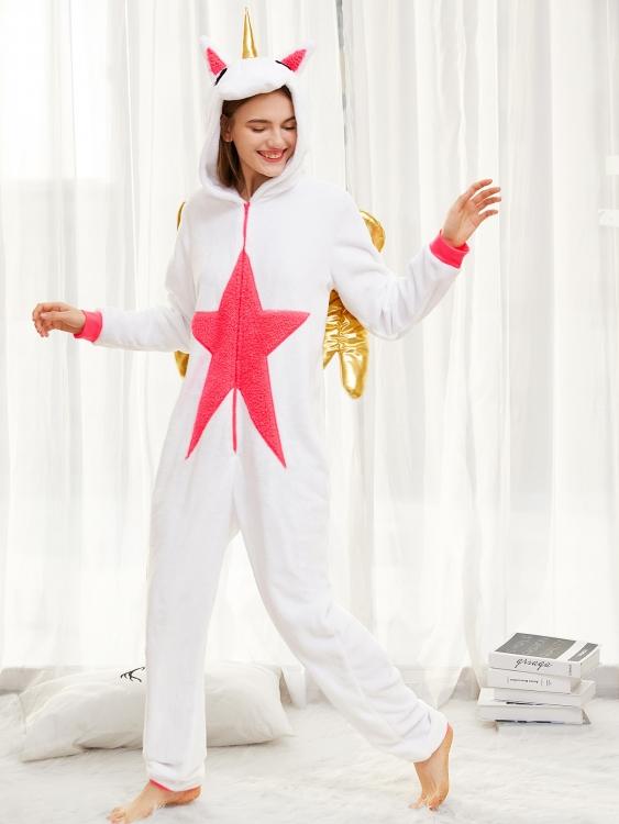 Фото - Кигуруми Единорог белый с крыльями L купить в киеве на подарок, цена, отзывы